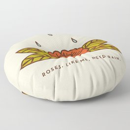 Rose of Sharon Floor Pillow
