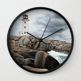 Peggy's Cove Light House -- Nova Scotia Wall Clock
