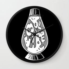 cool vibe lava lamp (white) Wall Clock