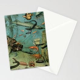 "Adolphe Millot ""Ocean"" Sea Creatures Nouveau Larousse 1905 Stationery Cards"