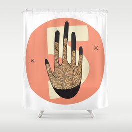 High Five in Warms Shower Curtain