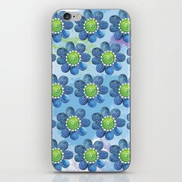Blue Whimsy iPhone Skin