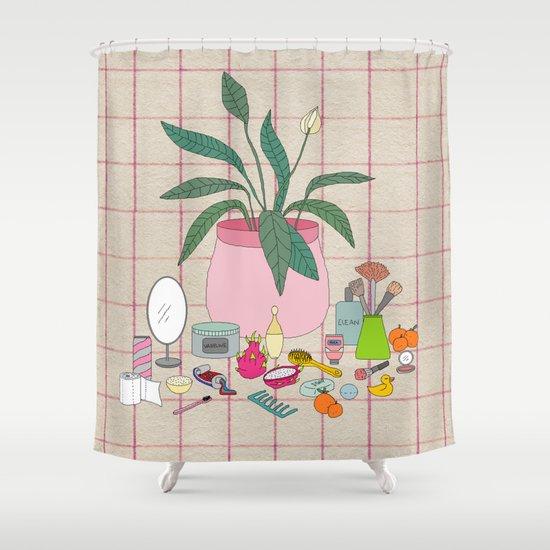 Still Life Bathroom Shower Curtain By Miranda Lorikeet