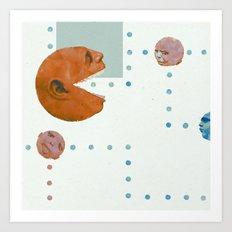 ManPac Acid square Art Print