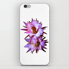 Purple cactus blossom iPhone Skin