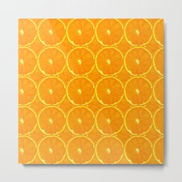 Orange Mandarin Metal Print