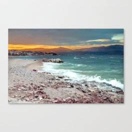 on the beach after the storm, Croatia Canvas Print