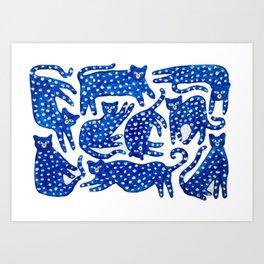 Cat club Art Print