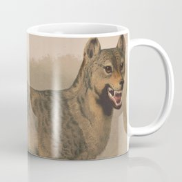 Vintage Illustration of a Gray Wolf (1874) Coffee Mug