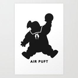 Air Puft: Stay Puft Marshmallow Man Art Print