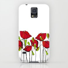 Whimsical Red Poppies Galaxy S5 Slim Case
