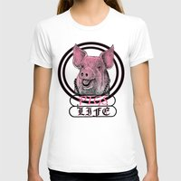 pigs T-shirts featuring Pigs Life by VirgoSpice