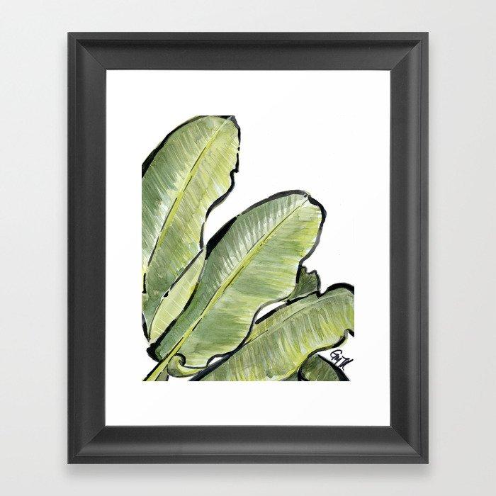 Palm Leaf No.2 Framed Art Print