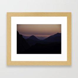Sunset at Mount Rainier National park Framed Art Print