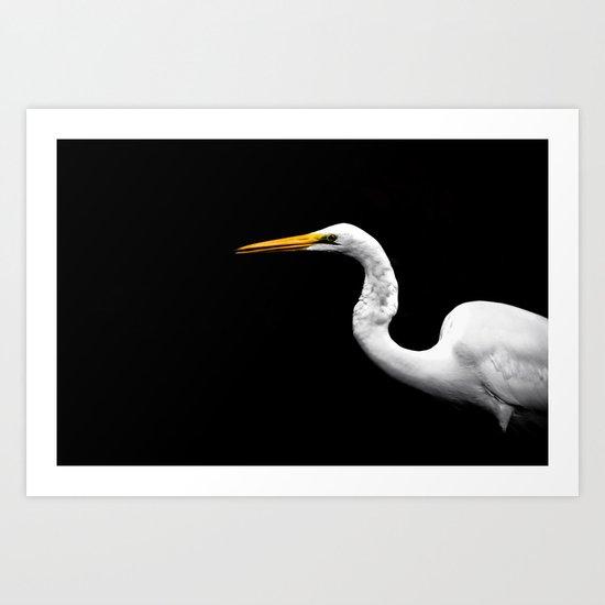 Heron#1 Art Print