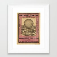 ballon Framed Art Prints featuring Ballon Captif by DAChiemsee