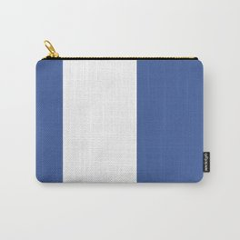 Blue And White Stripe Carry-All Pouch