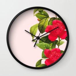 Botanical Light Kiss Wall Clock