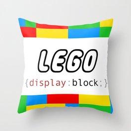 CSS Pun - Lego Throw Pillow