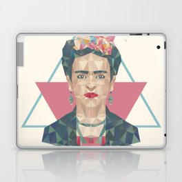 Pastel Frida - Geometric Portrait with Triangles Laptop & iPad Skin