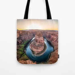 The Bend - Horseshoe Bend During Southwestern Sunset Tote Bag