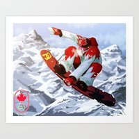 snowboard Art Prints featuring Snowboard Sochi 2014 by kirono