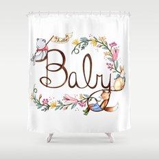 Hello Baby Shower Curtain