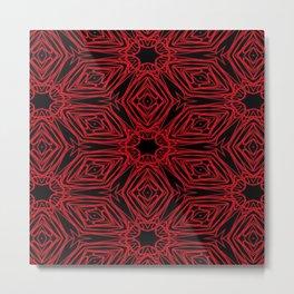 Black and red geometric diamonds 4999 Metal Print
