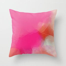 dreamy days in pink peach aquarell Throw Pillow