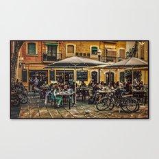 Al fresco dining Barcelona Canvas Print