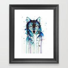 -Dark Wolf- Framed Art Print