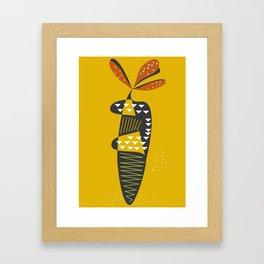 Carrot print Framed Art Print