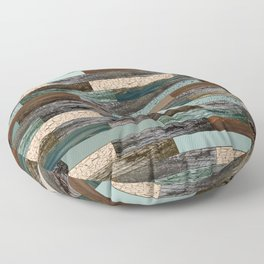 Wood in the Wall Floor Pillow