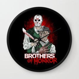 Brothers of Horror Wall Clock