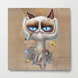 NOT SAD CAT TARD Metal Print
