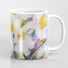 White Daffodil Meadow Coffee Mug