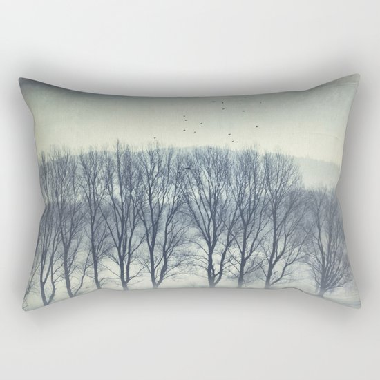 Trees in Mist Rectangular Pillow