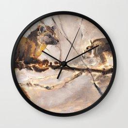 American pine marten with squirrel (c) 2017 Wall Clock