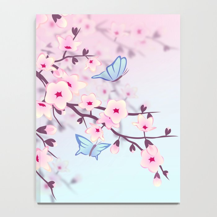 Cherry Blossoms Ladscape Notebook