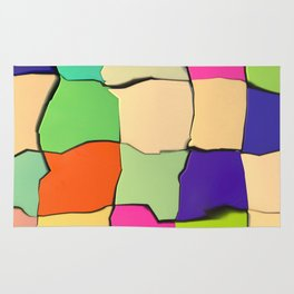 Distorted Color Cubes Rug
