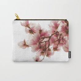Magnolia tree, pretty pink blooms Carry-All Pouch