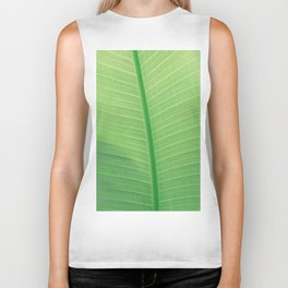Tropical Green Leaf Biker Tank