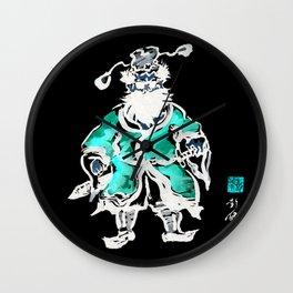 Zhong Kui the Ghost Catcher- Green Robe Wall Clock