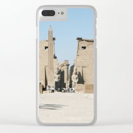 Temple of Luxor, no. 11 Clear iPhone Case