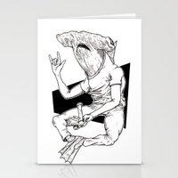shark Stationery Cards featuring Shark by Hopler Art