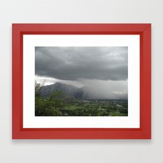 Gemona del Fruili, from Osoppo, Udine, Italy Framed Art Print