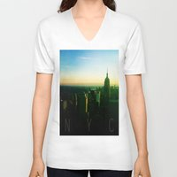 nyc V-neck T-shirts featuring NYC by Tristan Tait