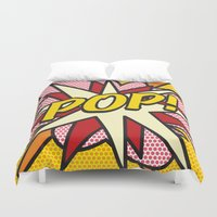 comic book Duvet Covers featuring Comic Book POP! by The Image Zone