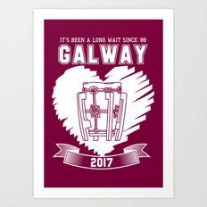 All Ireland Hurling Champions: Galway (Maroon/White) Art Print
