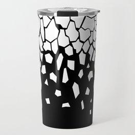 White Fragments Invert Travel Mug